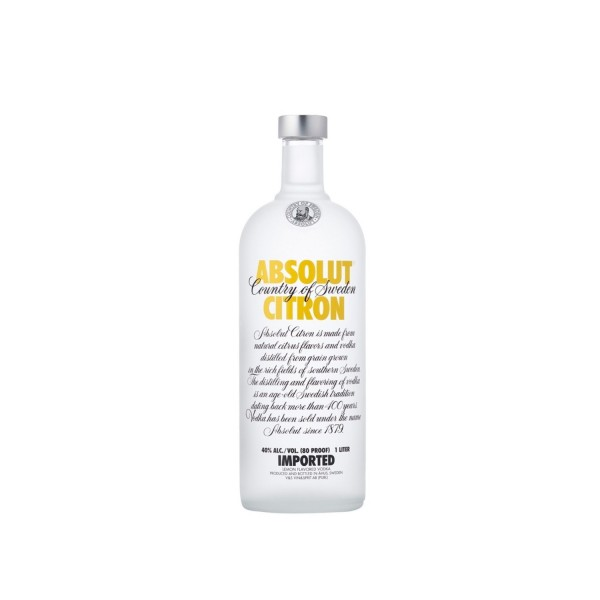 Absolut Citron Vodka 1ltr