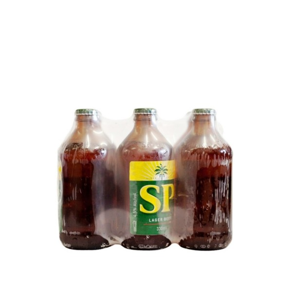 SP Lager Brown Bottle Beer 6 Pack 330ml