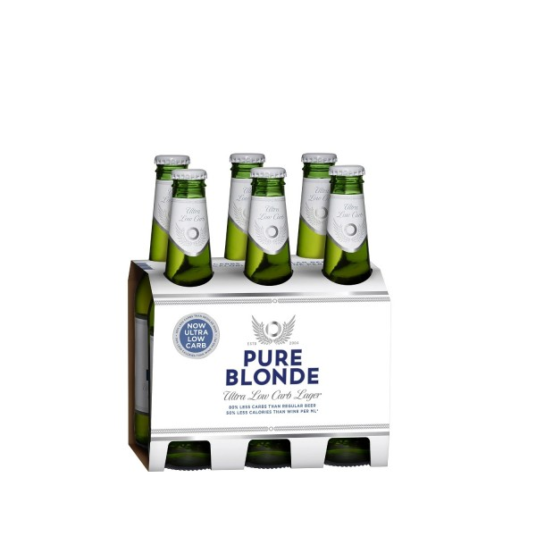 Pure Blonde Ultra Low Carb Beer 6 Pack 375ml
