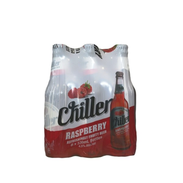 Chiller Raspberry Bottle Beer 330ml 6 Pack