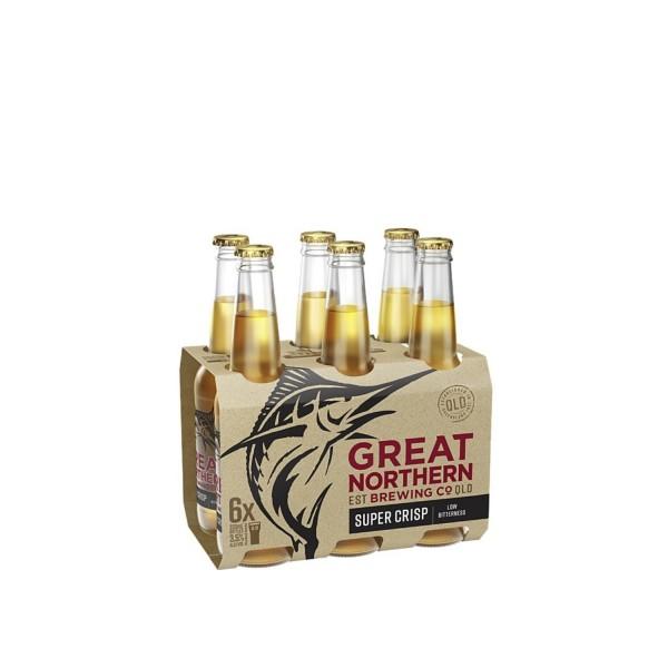 Great Northern Brewing Co. Super Crisp Lager Bottle 6 Pack 330ml