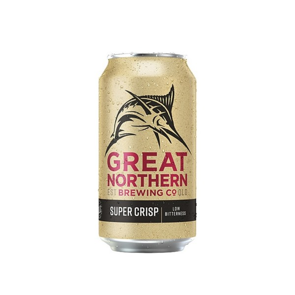 Great Northern Brewing Co. Super Crisp Lager Can 6 Pack 375ml