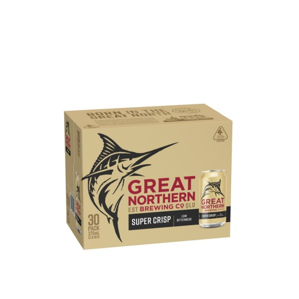 Great Northern Brewing Co. Super Crisp Lager Can 30 x 375ml