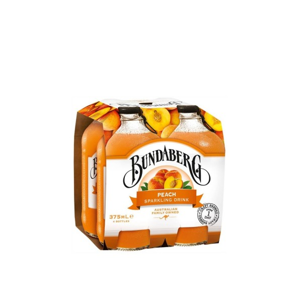 Bundaberg Peach Sparkling Drink 4 Pack 3750ml