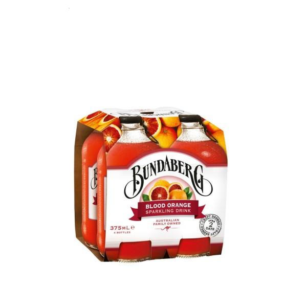 Bundaberg Blood Orange Sparkling Drink 4 Pack 375ml
