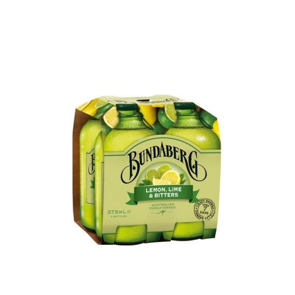 Bundaberg Lemon, Lime & Bitters 4 Pack 375ml