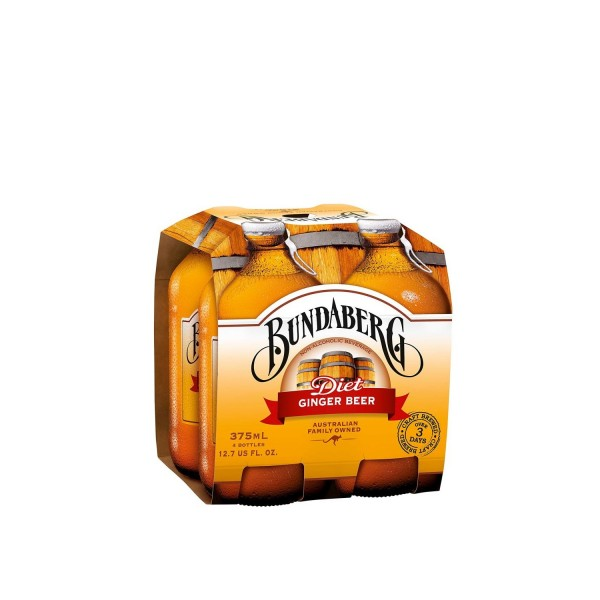 Bundaberg Diet Ginger Beer 4 Pack 375ml