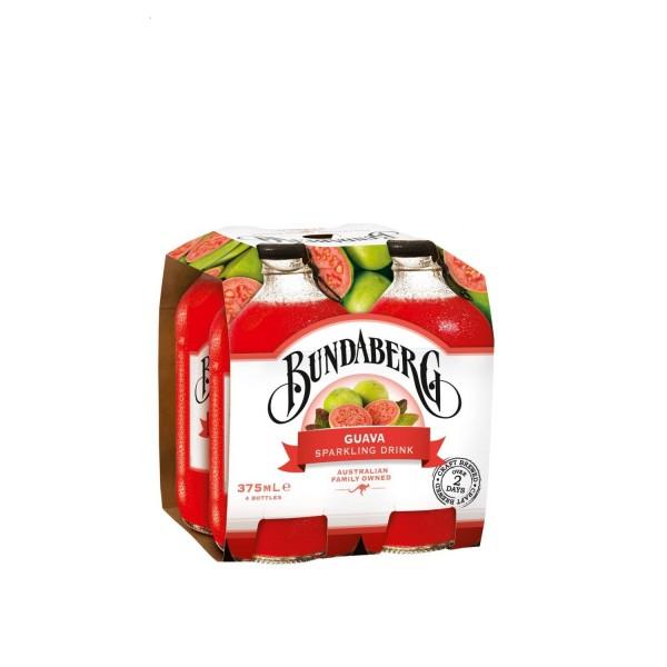 Bundaberg Guava Sparkling Drink 4 Pack 375ml