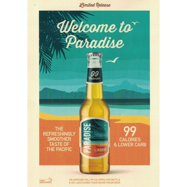Paradise Premium Lager Bottle 24 x 330ml