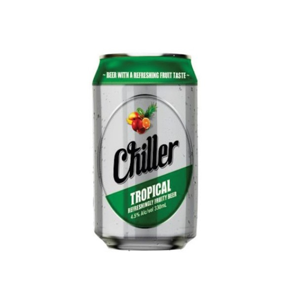 Chiller Tropical Can Beer 330ml 6 Pack