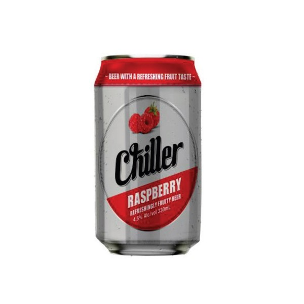 Chiller Raspberry Can Beer 330ml 6 Pack