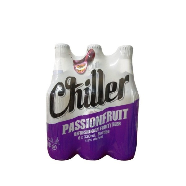 Chiller Passionfruit Bottle Beer 330ml 6 Pack