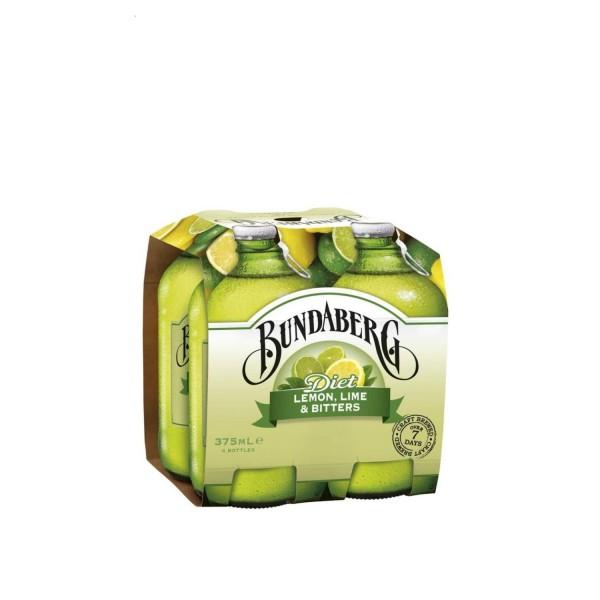 Bundaberg Diet Lemon, Lime & Bitters 4 Pack 375ml