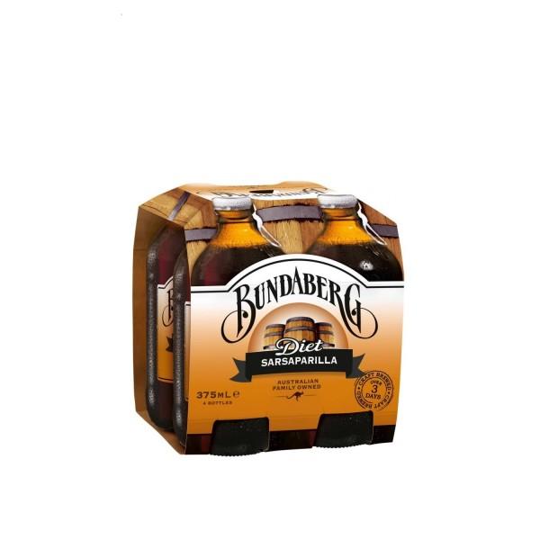 Bundaberg Diet Sarsaparilla 4 Pack 375ml