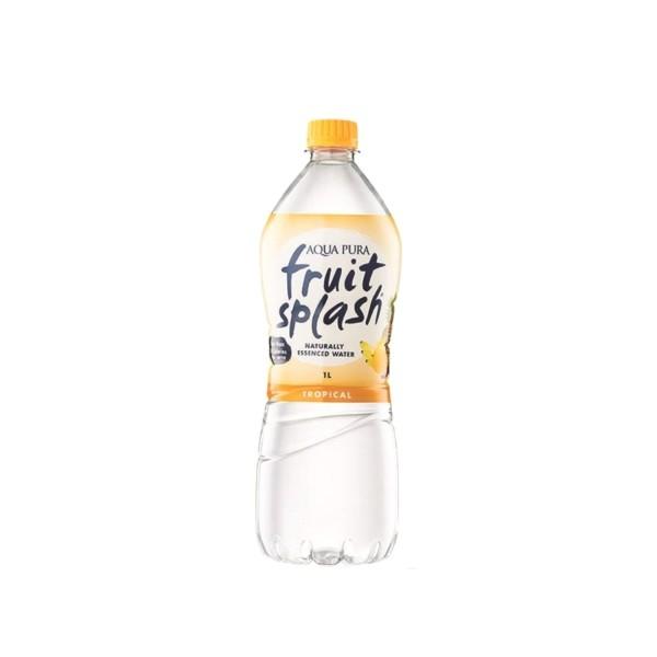 Aqua Pura Fruit Splash Tropical Flavour Water 12 X 1L