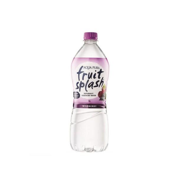 Aqua Pura Fruit Splash Wildberry Flavour Water 12 X 1L